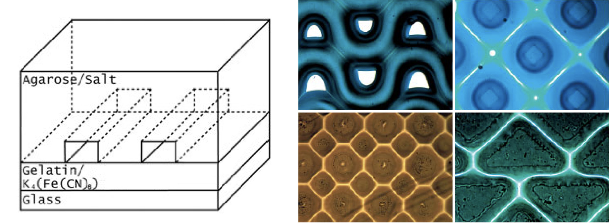 Picture of publication: Color Micro- and Nanopatterning with Counter-Propagating Reaction–Diffusion Fronts