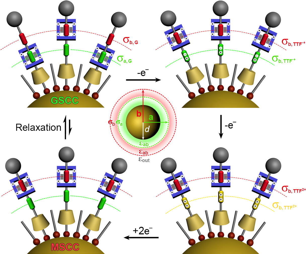 Picture of publication: Molecular-Mechanical Switching at the Nanoparticle–Solvent Interface: Practice and Theory