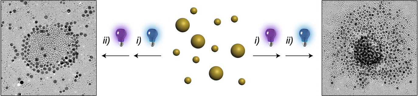Picture of publication: Orthogonal Light-Induced Self-Assembly of Nanoparticles using Differently Substituted Azobenzenes