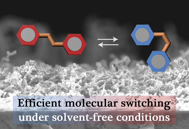 """Picture of publication: Polysilsesquioxane Nanowire Networks as an """"Artificial Solvent"""" for Reversible Operation of Photochromic Molecules"""