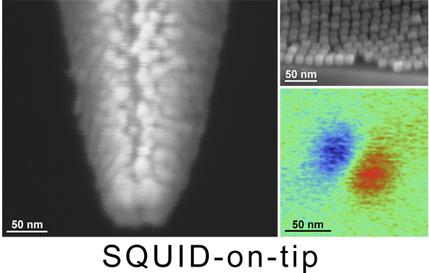 Picture of publication: SQUID-on-tip with single-electron spin sensitivity for high-field and ultra-low temperature nanomagnetic imaging